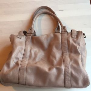 spacious casual leather bag